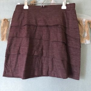 Prana Leah Tiered Skirt in Plum Red - 1023
